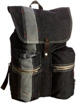 mens leather bags uk-diesel mens diesel class hero brave backpack