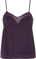 3.1 Phillip Lim Royal Violet Chiffon Combo Cami
