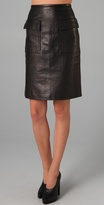 3.1 Phillip Lim Leather Skirt with Pockets