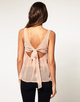 ASOS Bow Back Flock Spot Cami