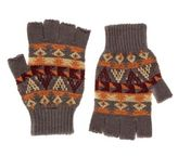 fingerless gloves mendark grey aztec knitted fingerless gloves Debenhams Scarves Mens