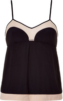 3.1 Phillip Lim Black and nude classic camisole top