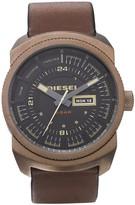 diesel watches & jewellery-diesel mens brown strap watch