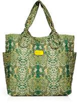 Marc by Marc Jacobs-marc by marc jacobs fresh grass pretty medium tote snake printed bag