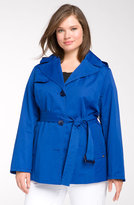 London Fog Women's Plus Size Long Raincoat | Overstock.com