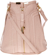 Blush zip front duffle bag