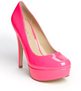 neon pink heels-aldo capecoral platform pump