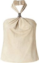Ralph Lauren Black Toast Suede Charlize Top