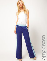 ASOS PETITE Exclusive Blocked Panel Wide Leg Pyjama Pant